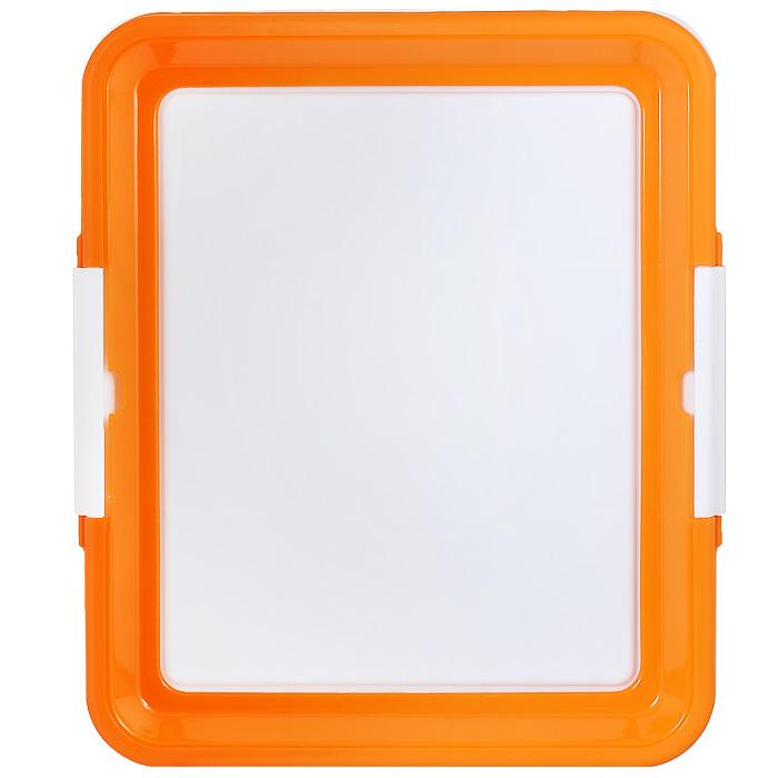 """Туалетный лоток для собак """"Triol"""", цвет: белый, оранжевый"""
