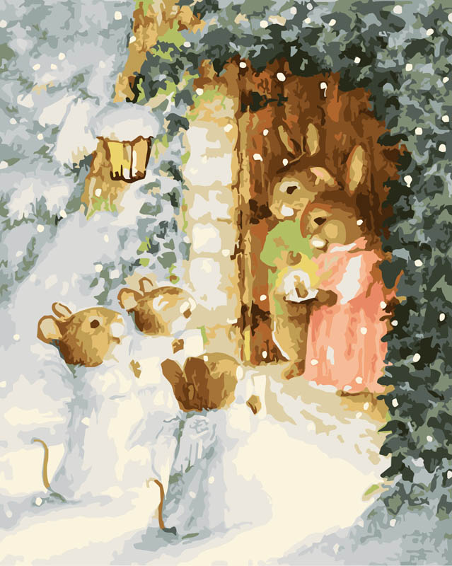 Рождественские открытки с животными, днем рождения