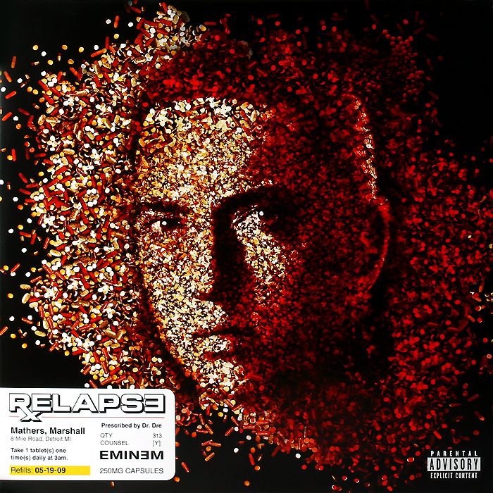 Эминем Eminem. Relapse (2 LP) кендрик ламар kendrick lamar damn 2 lp