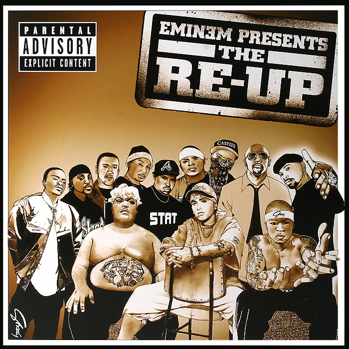 Эминем Eminem. Eminem Presents The Re-Up (2 LP) эминем slaughterhouse kobe bad meets evil sia yelawolf d 12 skylar grey 50 cent obie trice eminem shadyxv 4 lp