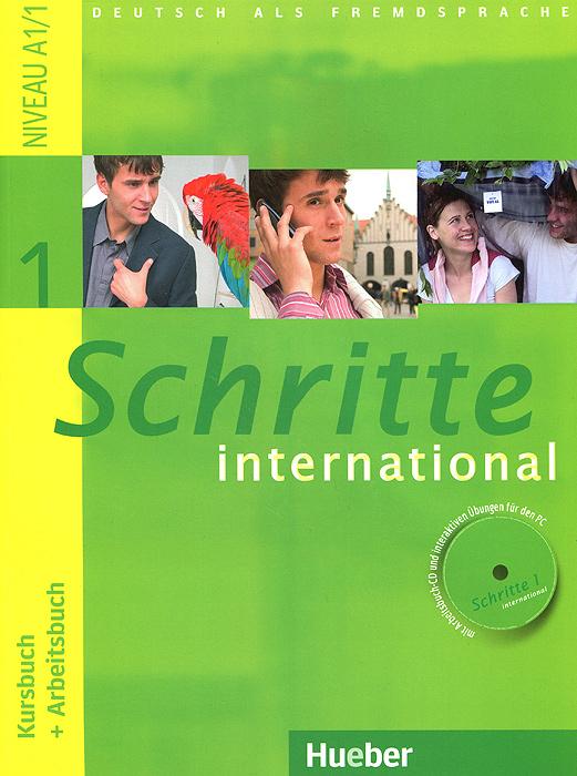 Schritte international 1: Kursbuch + Arbeitsbuch (+ CD-ROM) цена и фото