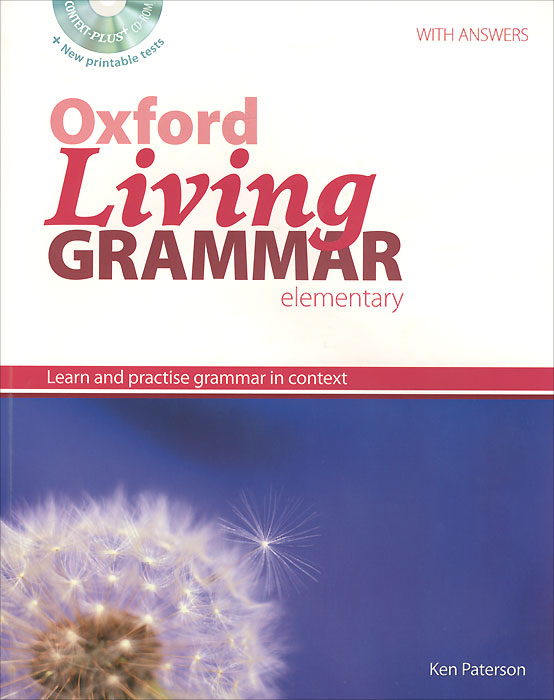 лучшая цена Oxford Living Grammar: Elementary: Student's Book: Learn and Practise Grammar in Context (+ CD-ROM)