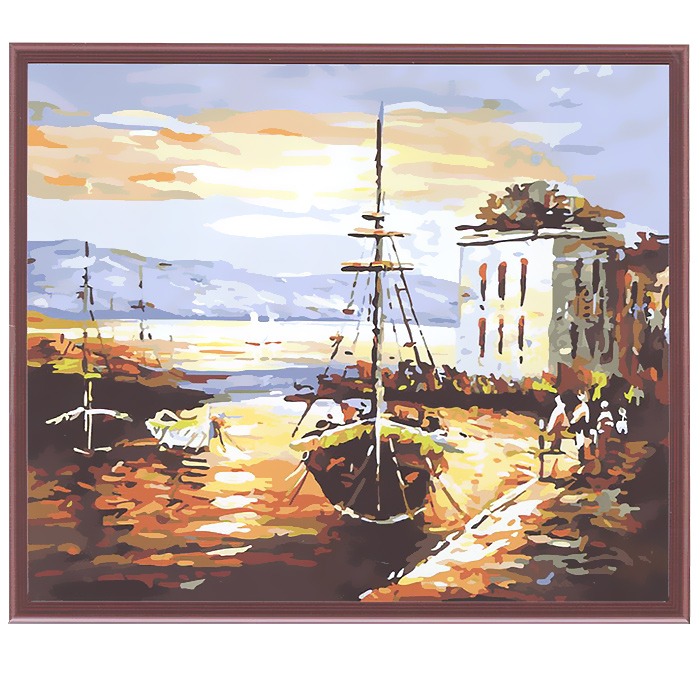 Живопись на холсте Рыбацкий баркас, 40 х 50 см живопись на холсте курортный городок 40 х 50 см