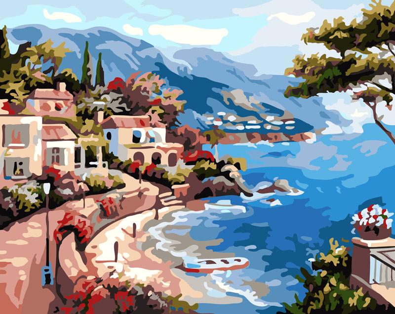 Живопись на холсте Курортный городок, 40 х 50 см живопись на холсте курортный городок 40 х 50 см