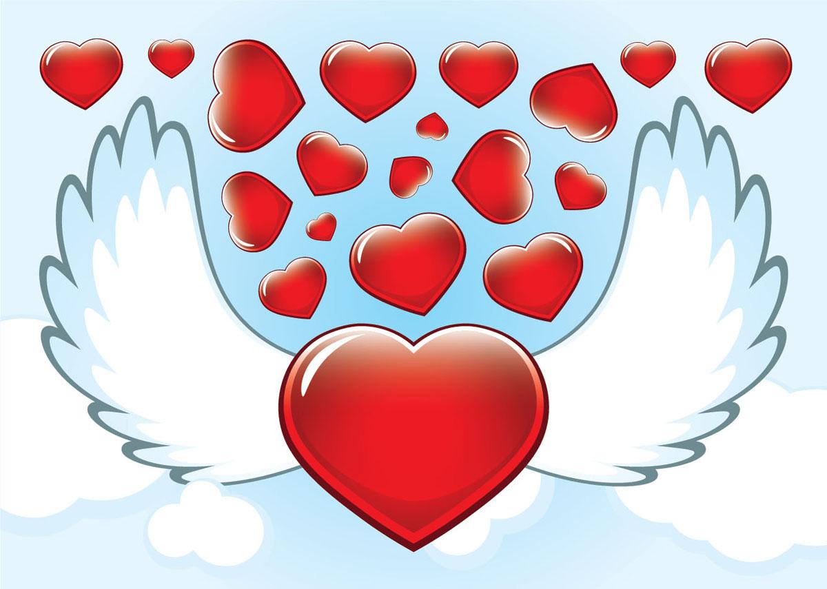 картинки сердце с крыльями вечер гуляли