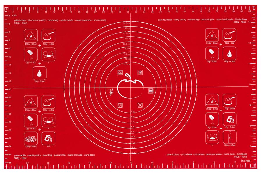 MASTRAD Лист кулинарный 40*60см, красный - в прозрачной коробке