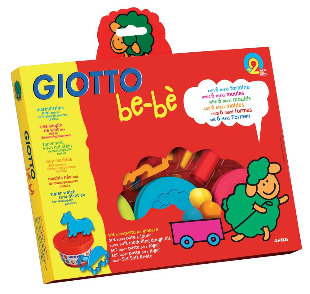 Масса для моделирования Giotto Be-be, с инструментами, цвет: желтый, голубой, красный, 3 шт х 100 г набор для детского творчества giotto джиотто be be масса для моделирования мягкая 3 цвета 100 мл в блистере
