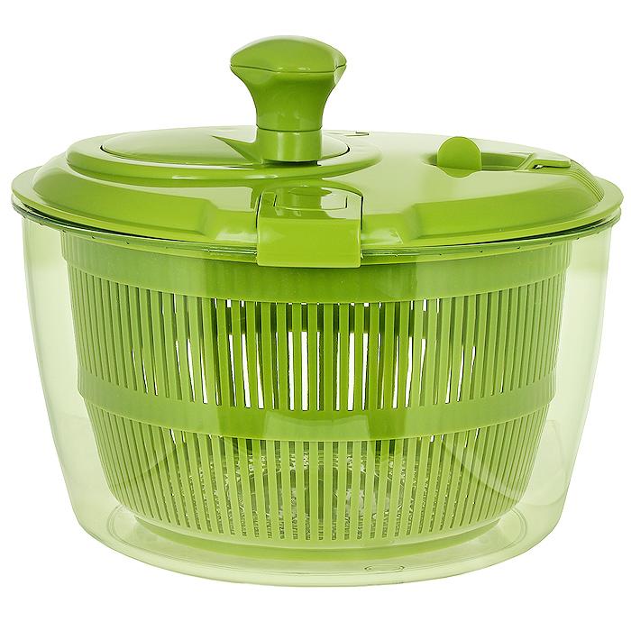 """Сушка для салатных листьев """"Mastrad"""", цвет: зеленый, диаметр 26 см"""