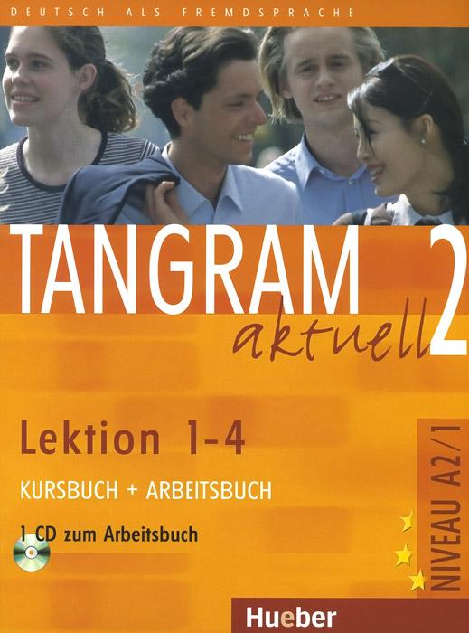 лучшая цена Tangram aktuell 2: Lektion 1-4: Kursbuch + Arbeitsbuch: + CD zum Arbeitsbuch (+ CD-ROM)