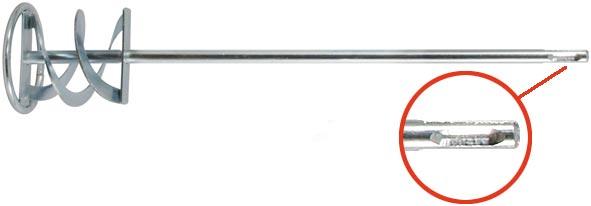 Миксер для строительных смесей Профи FIT, оцинкованный, хвостовик SDS-PLUS, 60 х 10 см насадка миксер bosch 600х105мм шестигранный хвостовик 2 607 990 026