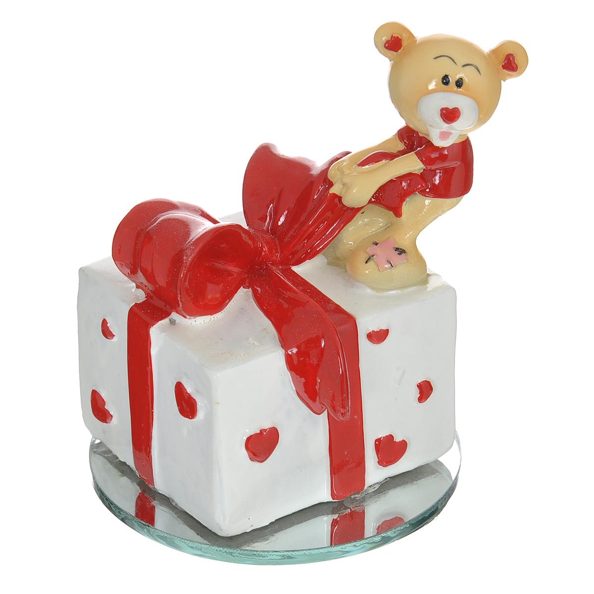 Фигурка декоративная Мишка-валентинка. 123435 фигурка декоративная win max свадебные голуби 10 х 5 х 12 см