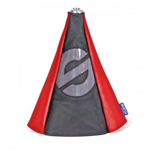 Чехол на рычаг КПП Sparco, универсальный, цвет: черный, красный. SPC/GN-COV BK/RD тент чехол для автомобиля sparco spc cov 700 bl м полиэстер синий
