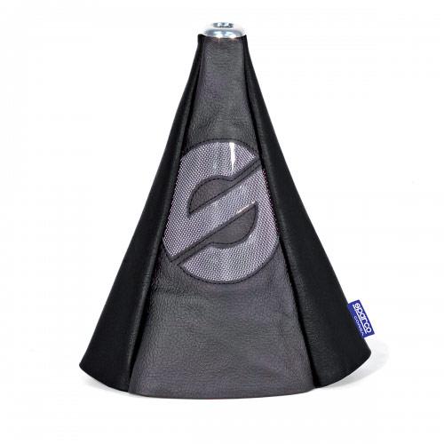 Чехол на рычаг КПП Sparco, универсальный, цвет: черный. SPC/GN-COV BK/BK тент чехол для автомобиля sparco spc cov 700 bl м полиэстер синий