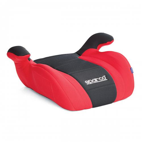 Бустер Sparco, группы 2/3 (15-36 кг/ 3-12 лет), полиэстер, наполнитель: поролон, цвет: черный, красный, 1/6 sparco детское кресло sparco f 700k группы 1 2 3 9 36 кг 9 мес 12 лет велюр вставки из полиэстера