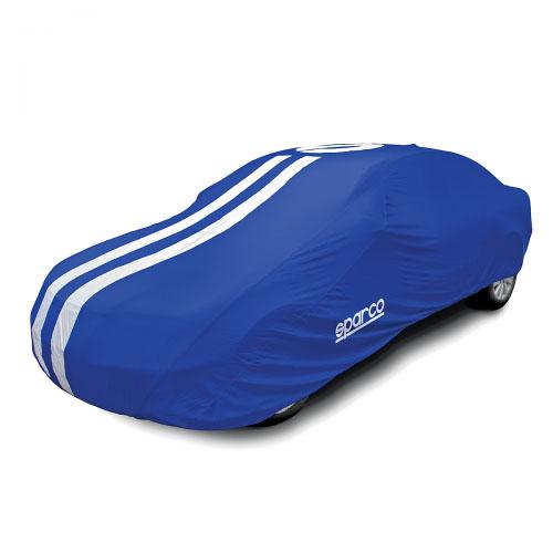 Чехол-тент на автомобиль Sparco, морозоустойчивый, цвет: синий. Размер M база sparco f300ifix