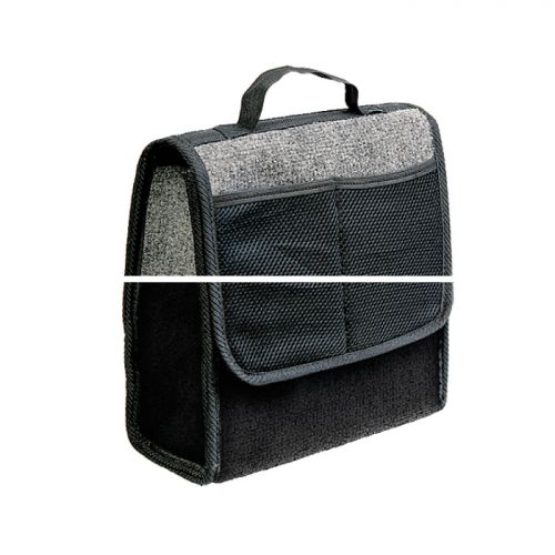 Сумка-органайзер в багажник Autoprofi Travel, ковролиновая, цвет: серый. ORG-10 GY органайзер в багажник travel org 35 bk 70х32х30см брезент прозрачный клапан чёрный