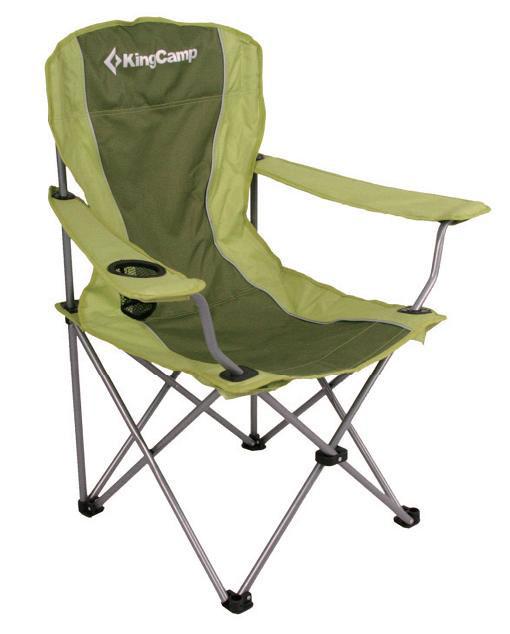 Кресло складное KingCamp Arms Chair In Steel, цвет: зеленый кресло складное kingcamp moon leisure chair цвет зеленый