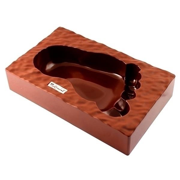 Пепельница Ступня, цвет: коричневый. 95388 пепельница эврика stay out of my room диаметр 10 5 см