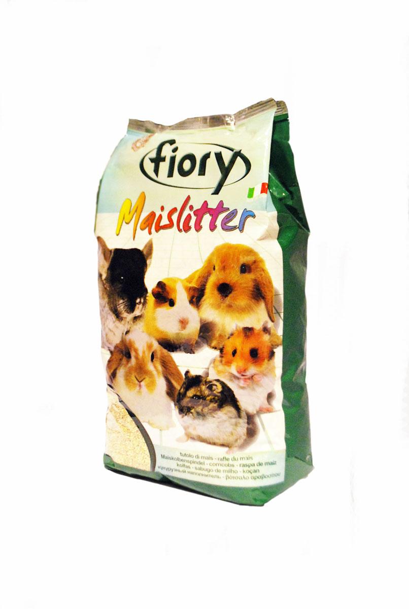 Кукурузный наполнитель для грызунов Fiory Maislitter, натуральный, 5 л наполнитель для грызунов fiory 5л