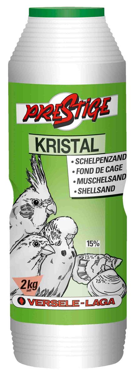 Песок для птиц Versele-Laga Kristal, с ракушечником, 2 кг versele laga versele laga песок с ракушечником для птиц kristal box в банке 2 кг