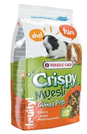 Корм для морских свинок Versele-Laga Crispy Muesli Guinea Pigs, с витамином С, 1 кг versele laga versele laga корм для морских свинок crispy muesli guinea pigs с витамином с