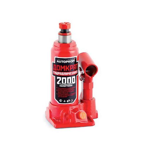 Домкрат бутылочный Автопрофи DG-02K, 2 т домкрат autoprofi dg 02k гидравлический бутылочный 2 т высота подъёма 308 мм в кейсе