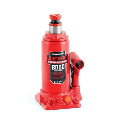 Домкрат бутылочный Автопрофи DG-08, 8 т домкрат autoprofi dg 02k гидравлический бутылочный 2 т высота подъёма 308 мм в кейсе