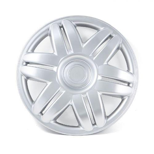"Колпаки на колеса ""Autoprofi WC-1130"", ABS пластик, цвет: серебристый металлик, 4 шт. Размер 13"" (32,5 см)"