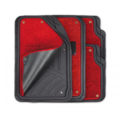 цена на Коврики автомобильные Autoprofi Focus 2, универсальные, морозостойкие, цвет: черный, красный, 4 предмета