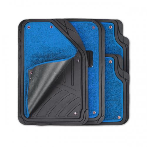 цена на Коврики автомобильные Autoprofi Focus 2, универсальные, морозостойкие, цвет: черный, синий, 4 предмета