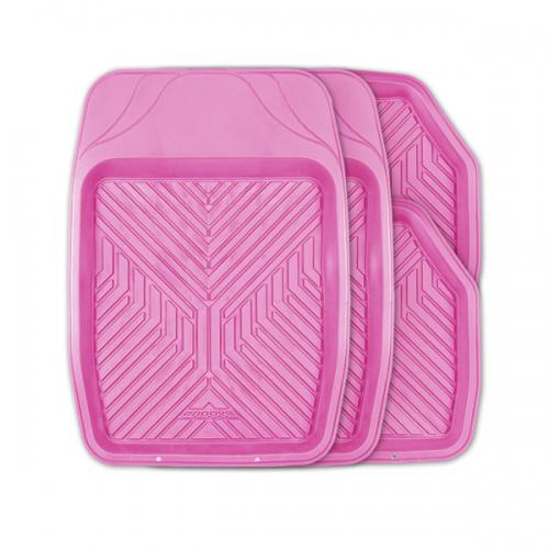 цена на Коврики автомобильные Autoprofi Groove, универсальные, цвет: розовый, 4 предмета