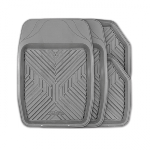 цена на Коврики автомобильные Autoprofi Groove, универсальные, цвет: серый, 4 предмета