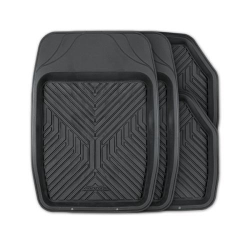 цена на Коврики автомобильные Autoprofi Groove, универсальные, цвет: черный, 4 предмета