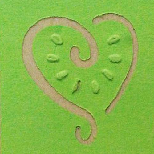Фигурный дырокол Craft Premier Солнечное сердце, с тиснением. CP03832