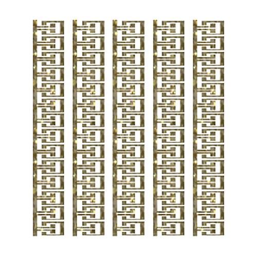 Трансфер с глиттером по ткани Греческий орнамент, 17 х 25 см SKT-1131