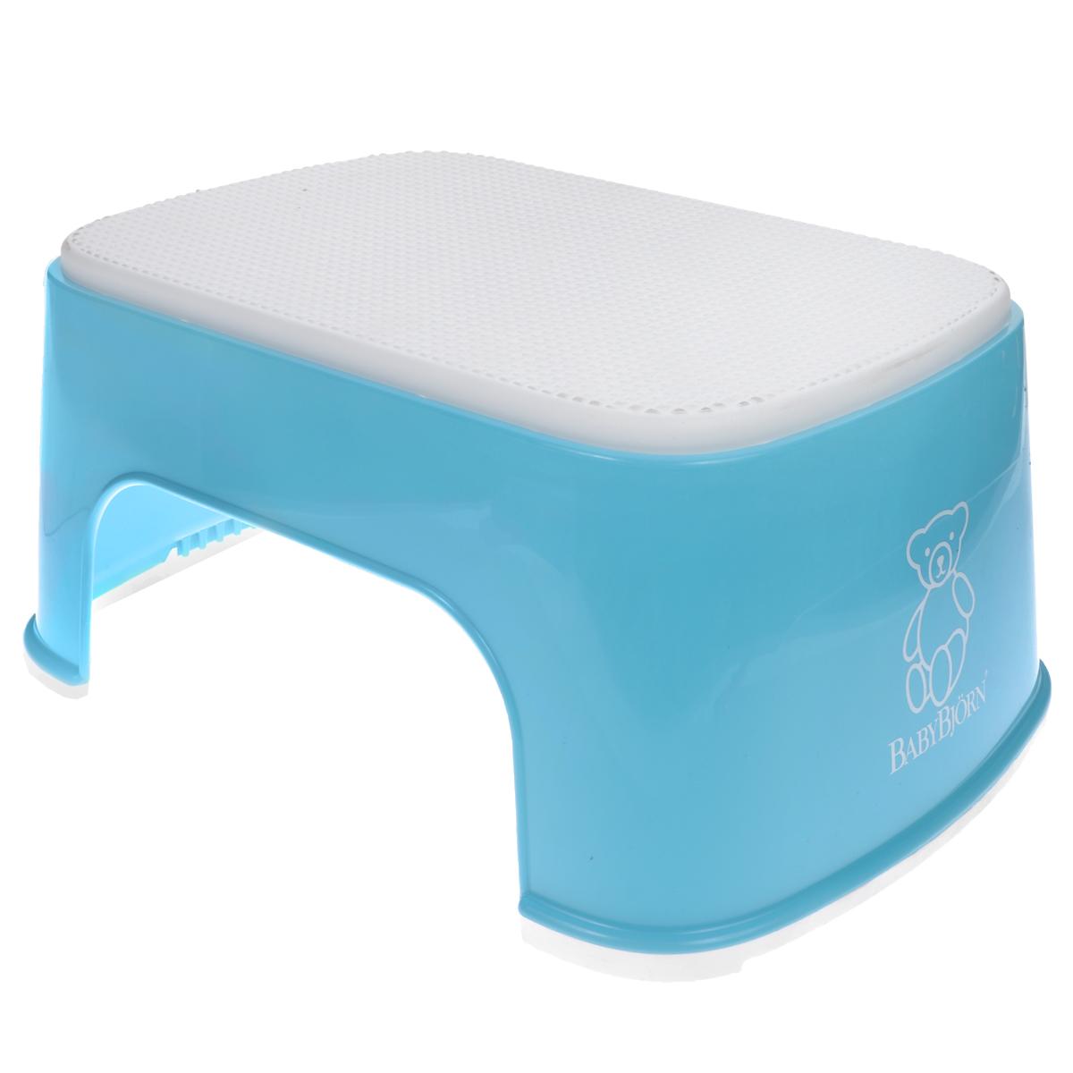 Стульчик-подставка BabyBjorn, цвет: бирюзовый, белый стульчик подставка babybjorn цвет серый белый