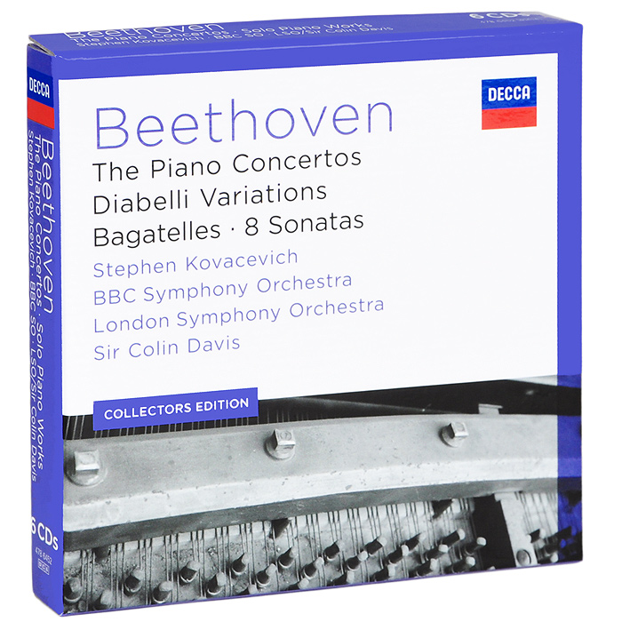 Стефен Ковасевич,BBC Symphony Orchestra,The London Symphony Orchestra,Колин Дэвис Stephen Kovacevich. Beethoven. The Piano Concertos / Diabelli Veriations / Bagatelles / 8 Sonatas (6 CD) юджин орманди леопольд стоковский the philadelphia orchestra сергей рахманинов rachmaninoff plays rachmaninoff the four piano concertos 2 cd