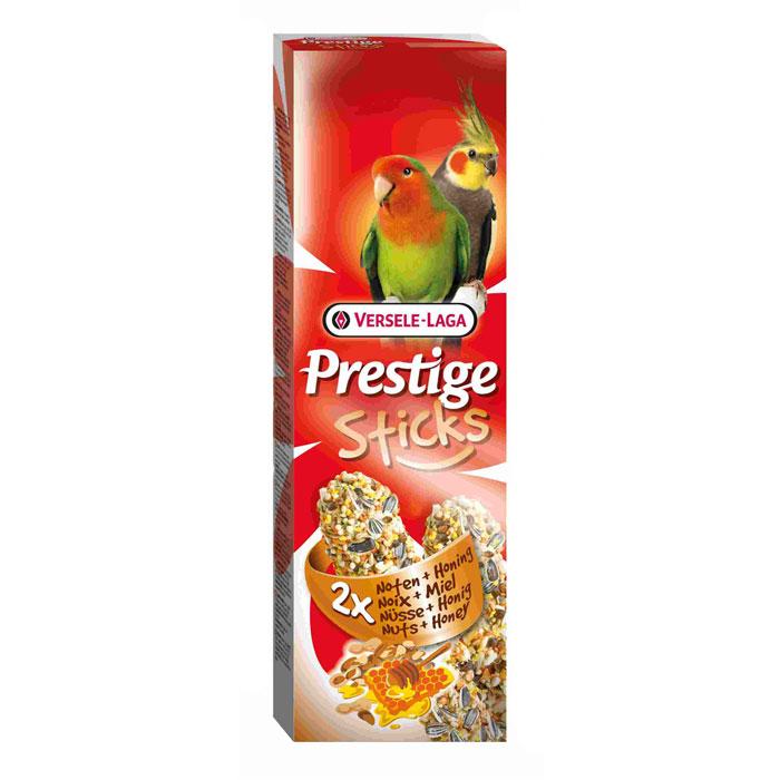 Лакомство Versele-Laga для средних попугаев, палочки с орехами и медом, 2х70 г лакомство для птиц versele laga палочка для крупных попугаев с орехами и медом 70г