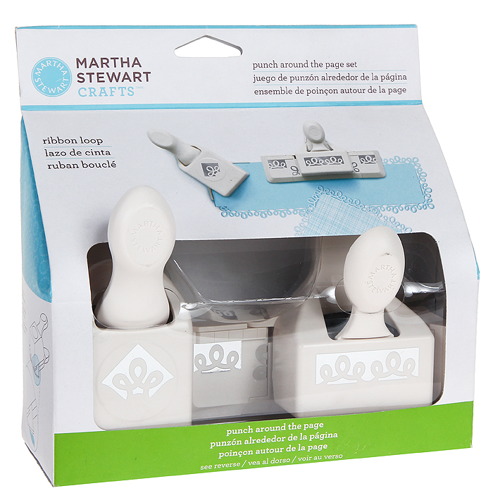 Набор фигурных дыроколов Martha Stewart Петельки, край и угол, 2 шт. EKS-42-60053 martha stewart s appetizers