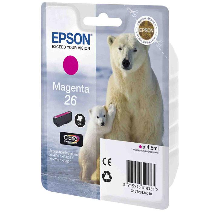 Картридж Epson 26, пурпурный, для струйного принтера, оригинал