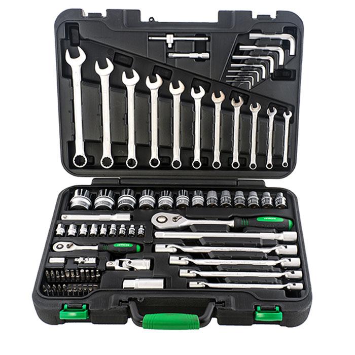 цена на Набор ручного инструмента Hitachi, 77 предметов