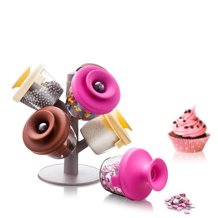 Набор емкостей для хранения декоров для десертов Tomorrow's Kitchen PopSome Cake Decorating Set, 6 предметов ламповый усилитель для наушников cary audio design hh 1 black
