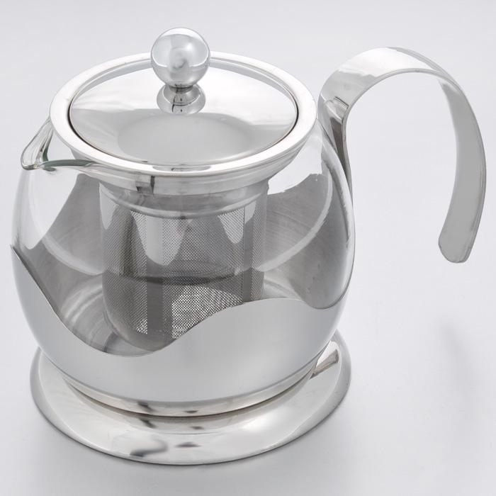 """Чайник заварочный """"Hans & Gretchen"""", с фильтром, цвет: серебристый, 0,8 л. 14YS-8234"""