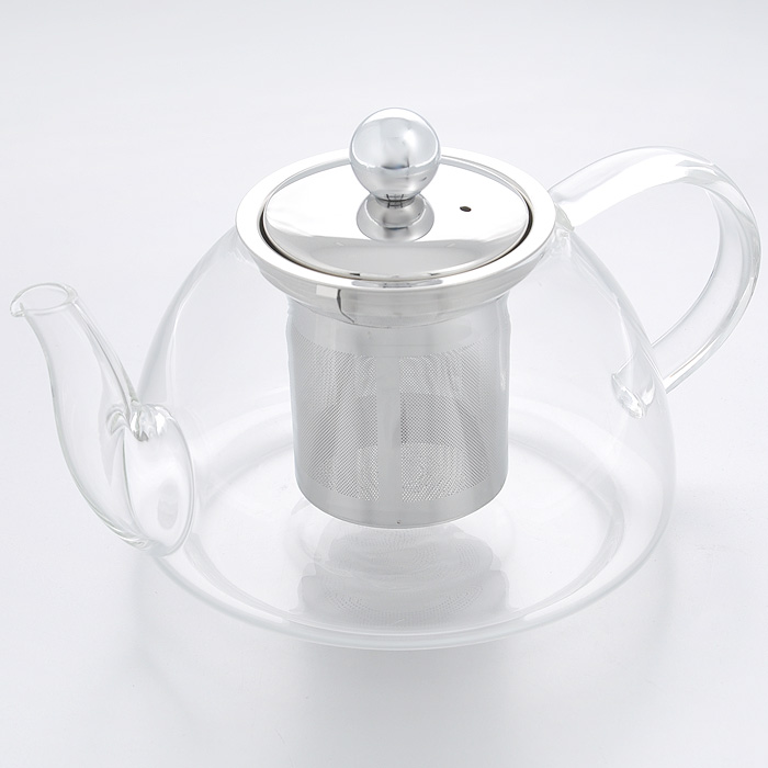 """Чайник заварочный """"Hans & Gretchen"""", с фильтром, цвет: серебристый, 0,8 л. 14YS-8209"""