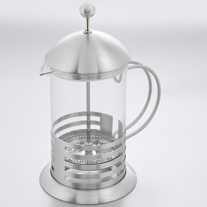 """Кофейник френч-пресс """"Hans & Gretchen"""", цвет: серебристый, 0,6 л. 14YS-8034"""