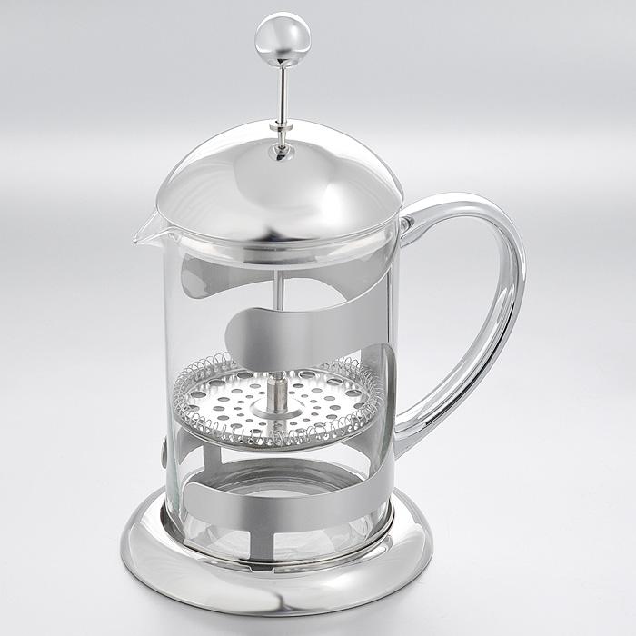 """Кофейник френч-пресс """"Hans & Gretchen"""", цвет: серебристый, 0,8 л. 14YS-8238"""