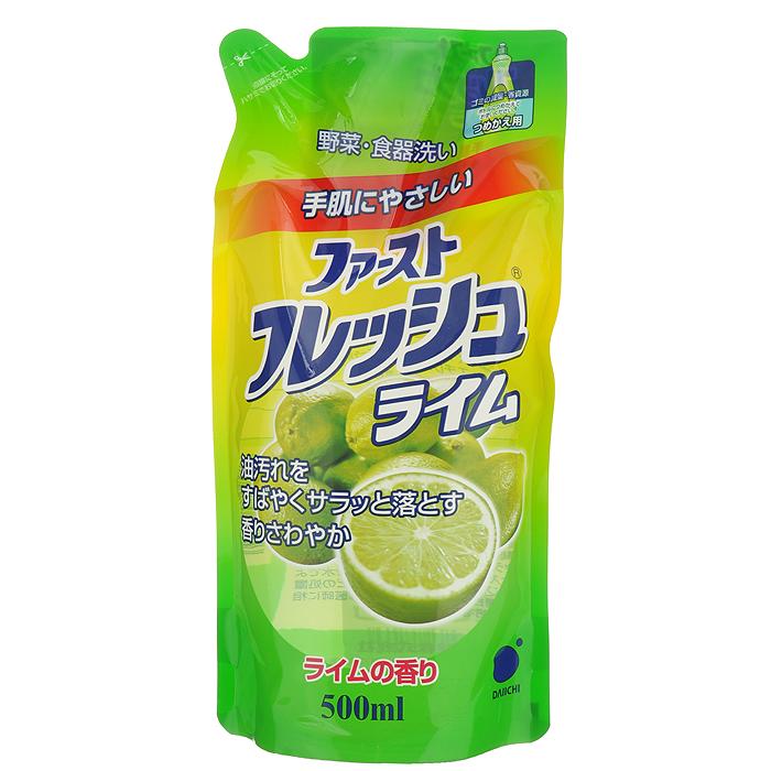 Гель для мытья посуды Daiichi Фреш Элеганс, с ароматом лайма, 500 мл жидкость для мытья посуды аромат лайма 600 мл funs для посуды