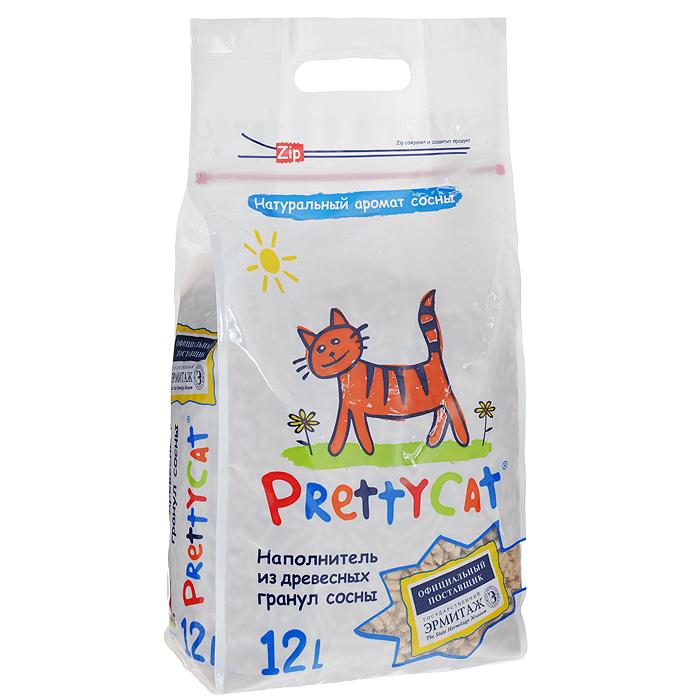 Фото - Наполнитель для кошачьих туалетов Pretty Cat Wood Granules, древесный, 12 л lambert kay boundary dog and cat repellent granules 28 ounce 1 lb 12 oz