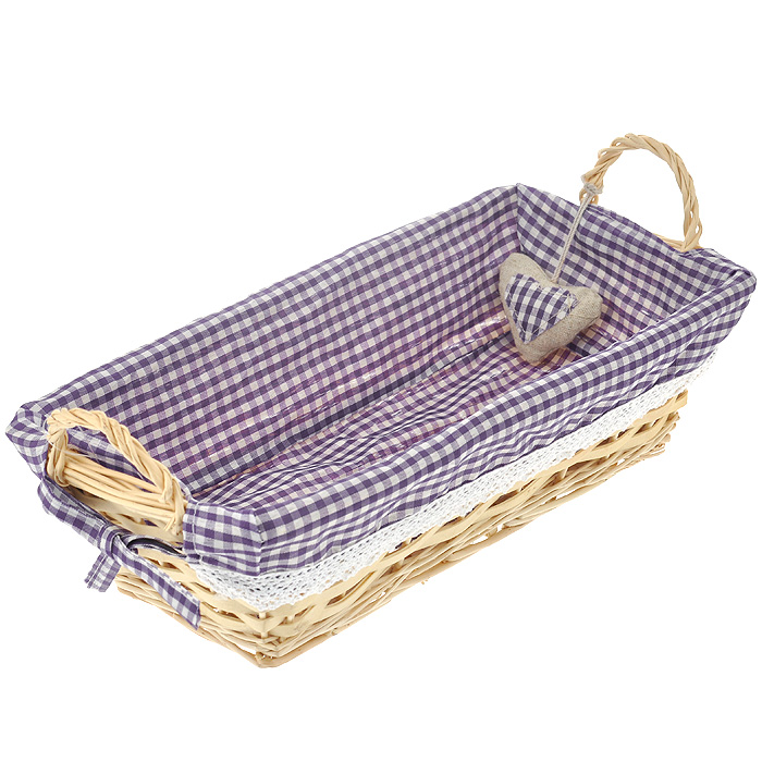 Корзинка для хлеба Premier Housewares, прямоугольная, цвет: фиолетовый, 35 см х 17 13