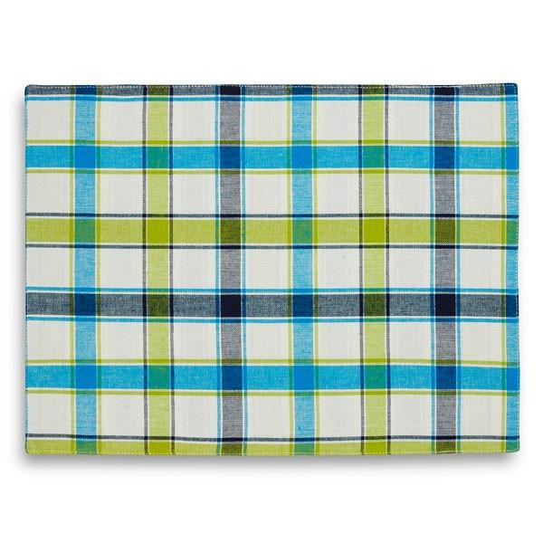 """Салфетки под столовые приборы """"Schaefer"""", цвет: синий, зеленый, 33 х 45 см, 2 шт"""